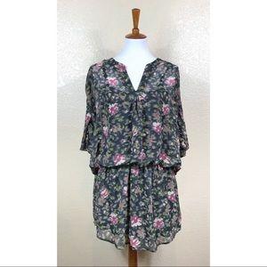 Patterson J Kincaid Abstract Floral Blouson Dress